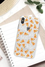 FOONCASE iPhone X hoesje TPU Soft Case - Back Cover - Pizza / Food