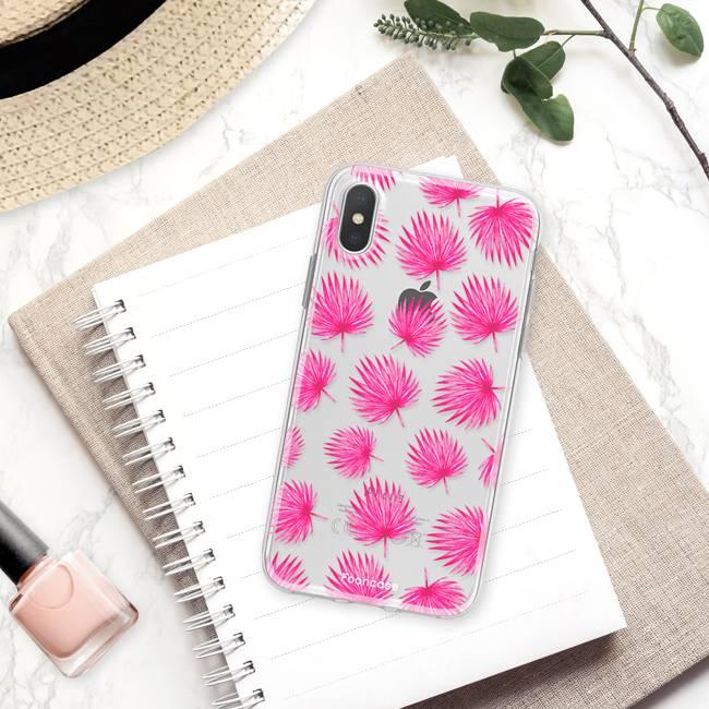 Apple Iphone X Handyhülle - Rosa Blätter