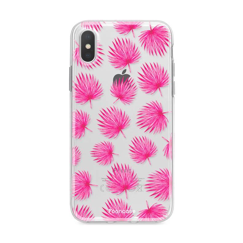 FOONCASE Iphone X Handyhülle - Rosa Blätter