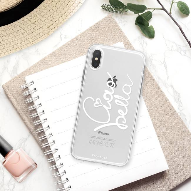 FOONCASE iPhone X hoesje TPU Soft Case - Back Cover - Ciao Bella!