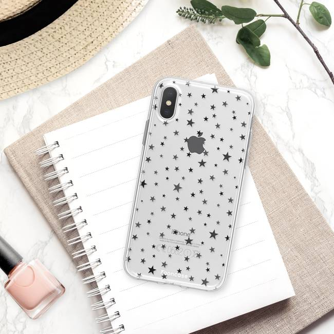 FOONCASE iPhone X hoesje TPU Soft Case - Back Cover - Stars / Sterretjes