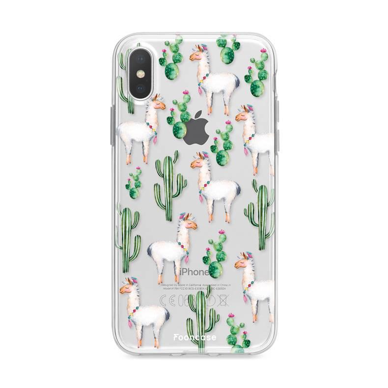FOONCASE iPhone X hoesje TPU Soft Case - Back Cover - Alpaca / Lama