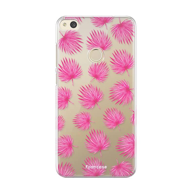 Huawei Huawei P8 Lite Handyhülle - Rosa Blätter