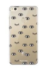 FOONCASE Huawei P8 Lite 2017 hoesje TPU Soft Case - Back Cover - Eyes / Ogen