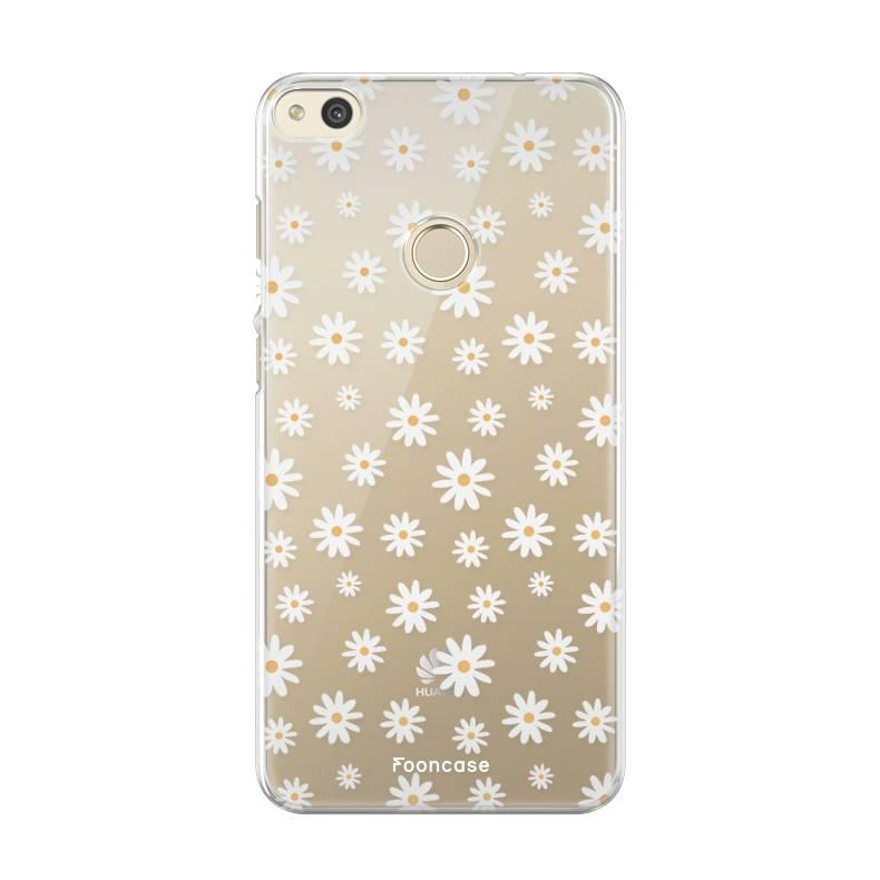 FOONCASE Huawei P8 Lite 2017 hoesje TPU Soft Case - Back Cover - Madeliefjes