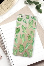 FOONCASE Huawei P8 Lite 2017 hoesje TPU Soft Case - Back Cover - Cactus
