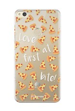 FOONCASE Huawei P8 Lite 2017 hoesje TPU Soft Case - Back Cover - Pizza / Food