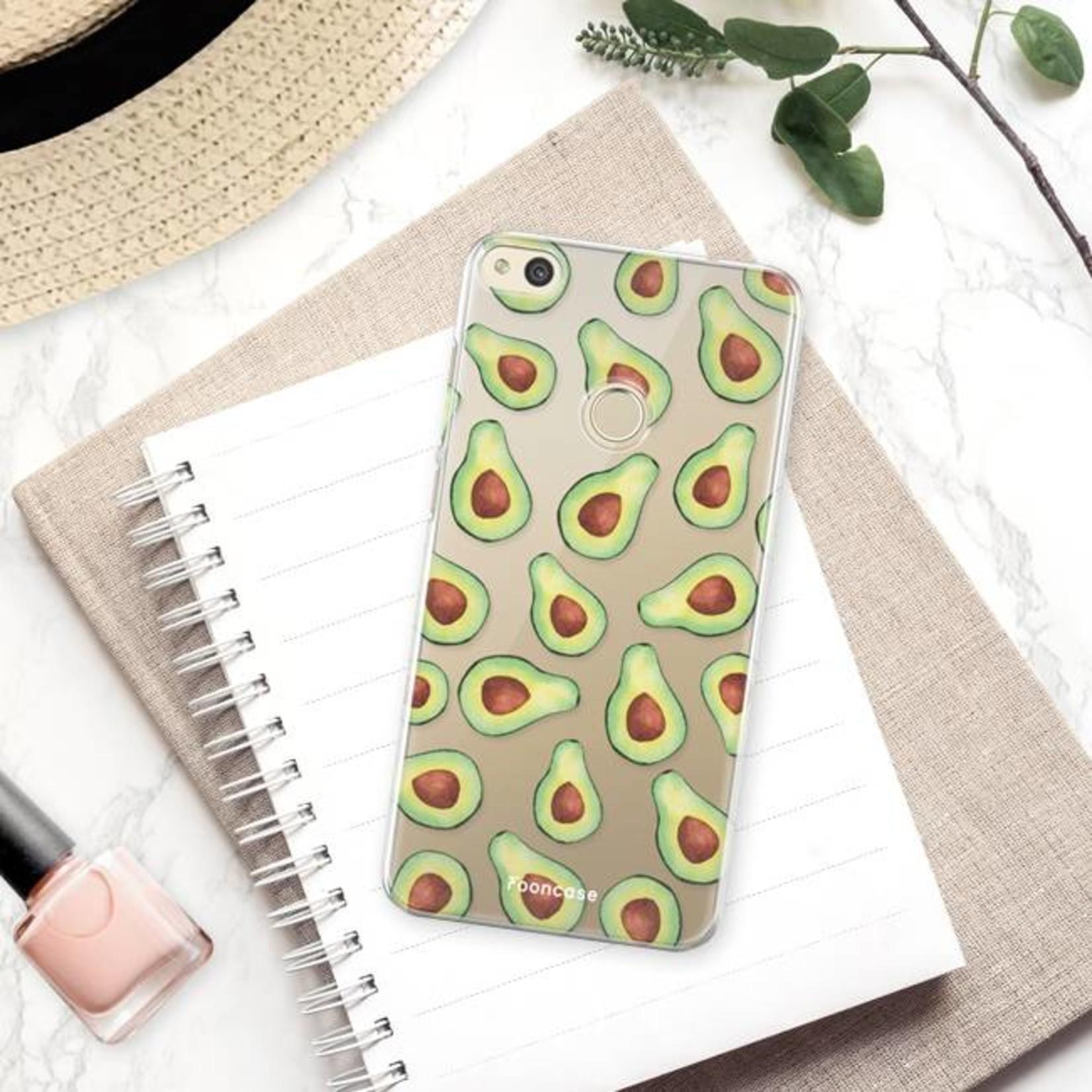 FOONCASE Huawei P8 Lite 2017 hoesje TPU Soft Case - Back Cover - Avocado