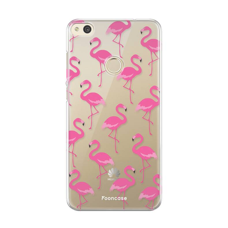 FOONCASE Huawei P8 Lite 2017 hoesje TPU Soft Case - Back Cover - Flamingo