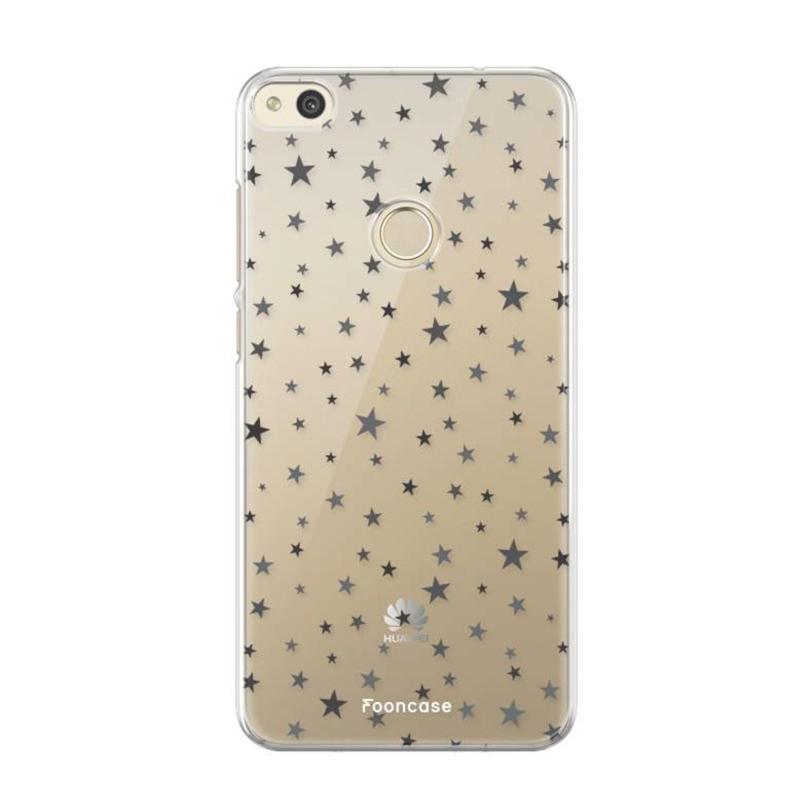 FOONCASE Huawei P8 Lite2017  hoesje TPU Soft Case - Back Cover - Stars / Sterretjes