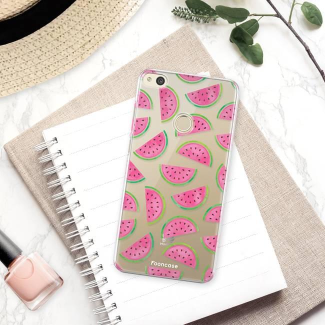 FOONCASE Huawei P8 Lite 2017 hoesje TPU Soft Case - Back Cover - Watermeloen