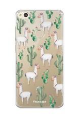 FOONCASE Huawei P8 Lite 2017 hoesje TPU Soft Case - Back Cover - Alpaca / Lama