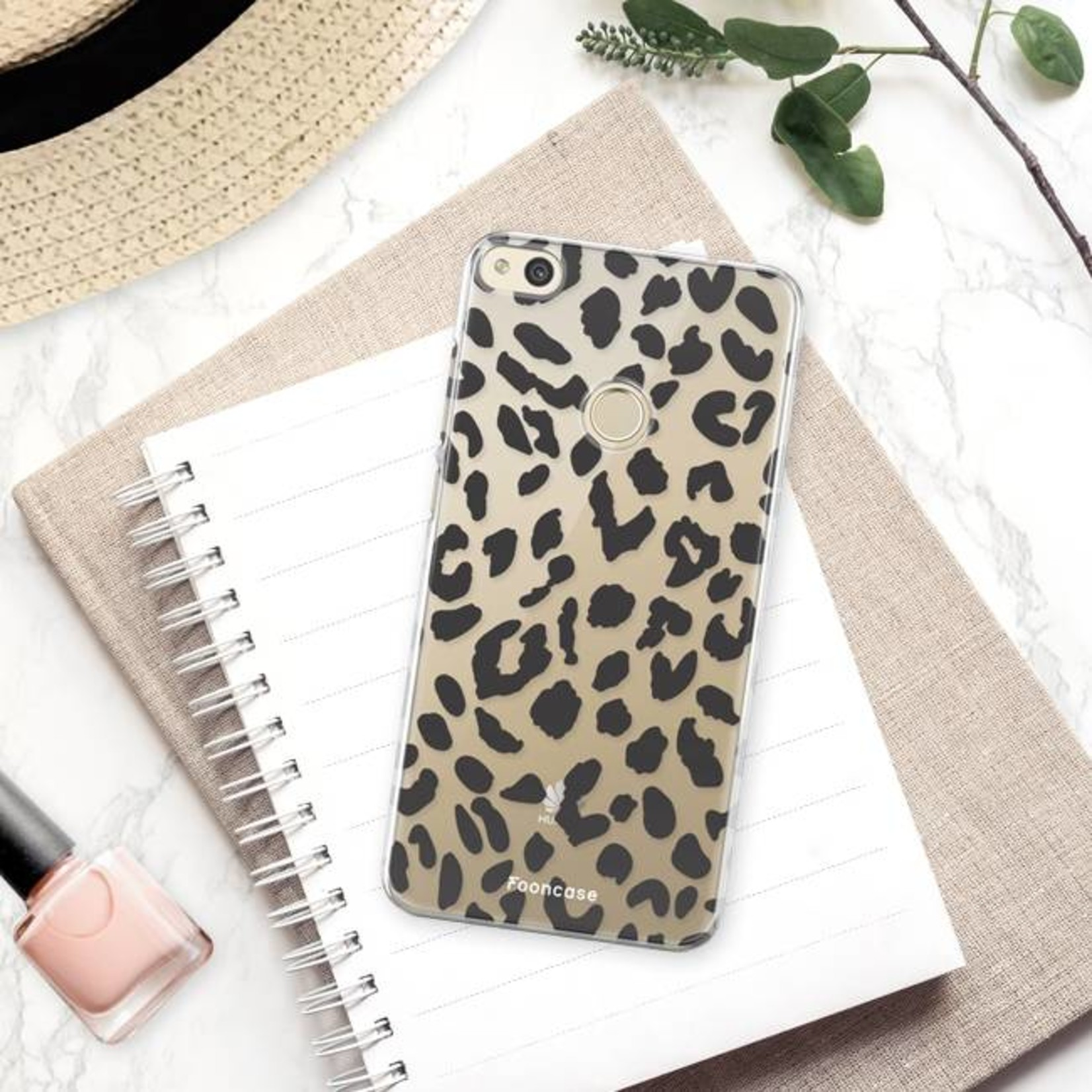 FOONCASE Huawei P8 Lite 2017 Handyhülle - Leopard