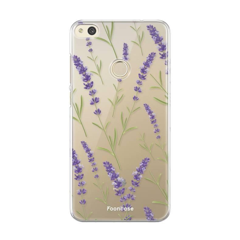 FOONCASE Huawei P8 Lite 2017 hoesje TPU Soft Case - Back Cover - Purple Flower / Paarse bloemen