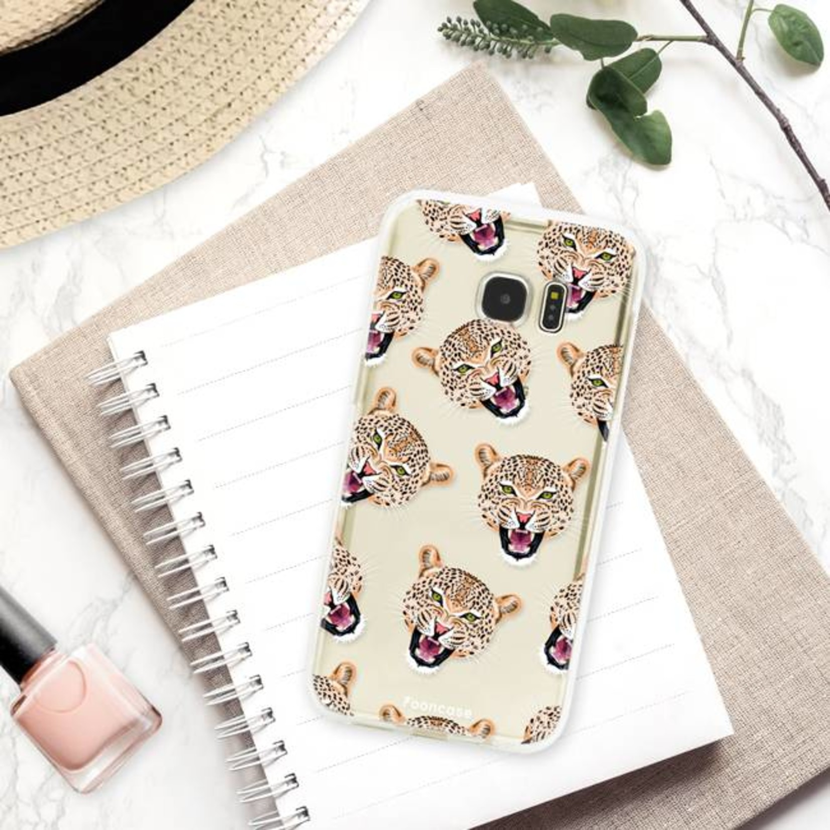 FOONCASE Samsung Galaxy S7 Edge Handyhülle - Cheeky Leopard