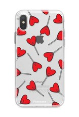FOONCASE iPhone X hoesje TPU Soft Case - Back Cover - Love Pop