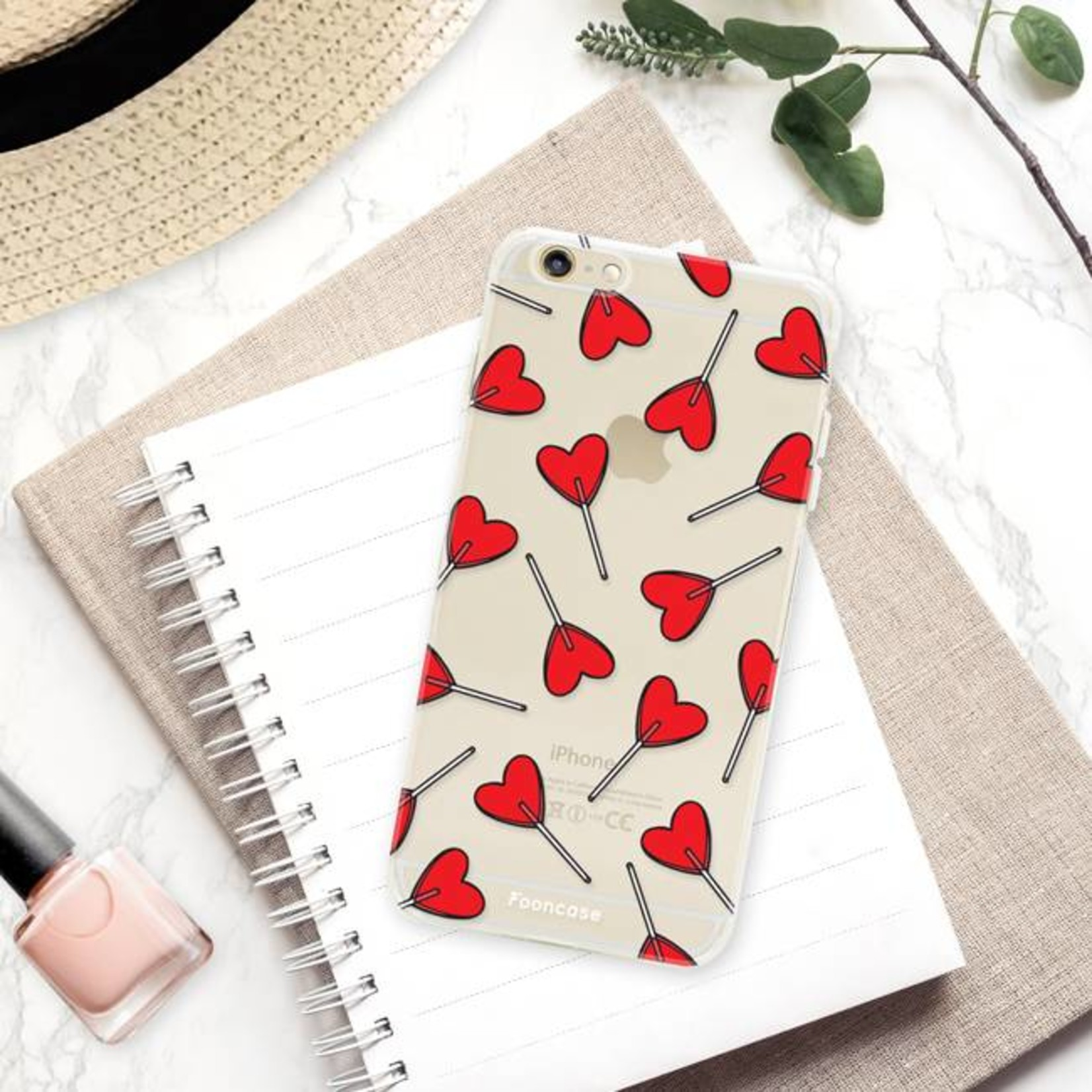 FOONCASE iPhone 6 / 6S hoesje TPU Soft Case - Back Cover - Love Pop