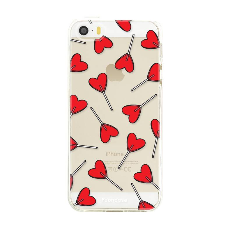 FOONCASE iPhone 5 / 5S hoesje TPU Soft Case - Back Cover - Love Pop