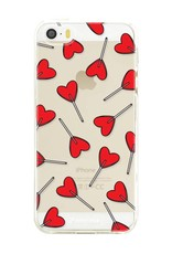 FOONCASE iPhone SE hoesje TPU Soft Case - Back Cover - Love Pop