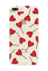 FOONCASE iPhone 8 Plus hoesje TPU Soft Case - Back Cover - Love Pop