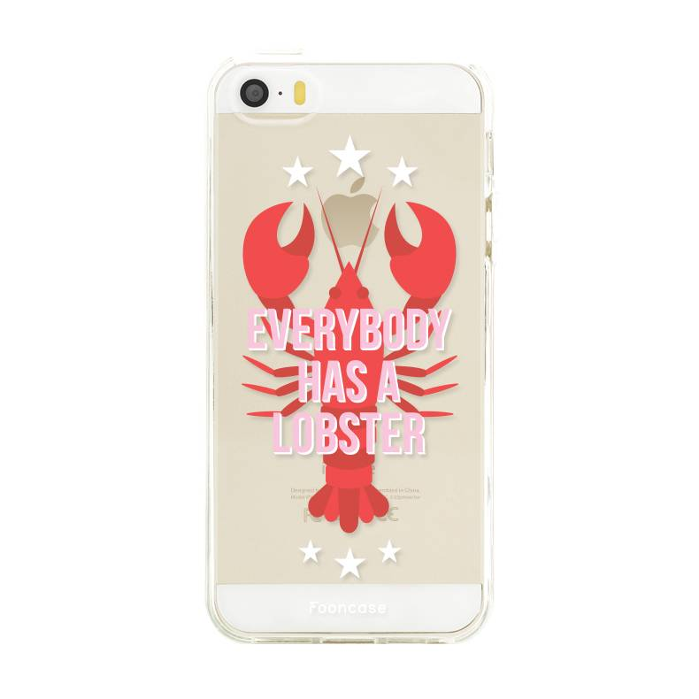 FOONCASE iPhone 5 / 5S hoesje TPU Soft Case - Back Cover - Lobster / Kreeft