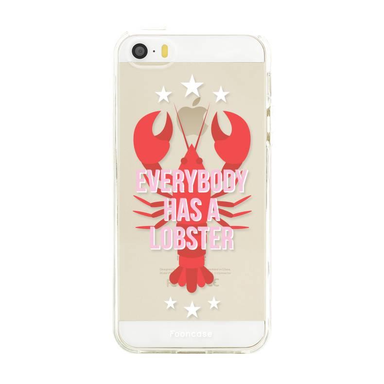 FOONCASE iPhone SE hoesje TPU Soft Case - Back Cover - Lobster / Kreeft