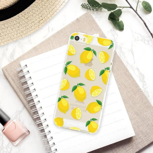 FOONCASE iPhone 5 / 5S hoesje TPU Soft Case - Back Cover - Lemons / Citroen / Citroentjes