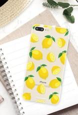 FOONCASE iPhone 7 Plus hoesje TPU Soft Case - Back Cover - Lemons / Citroen / Citroentjes