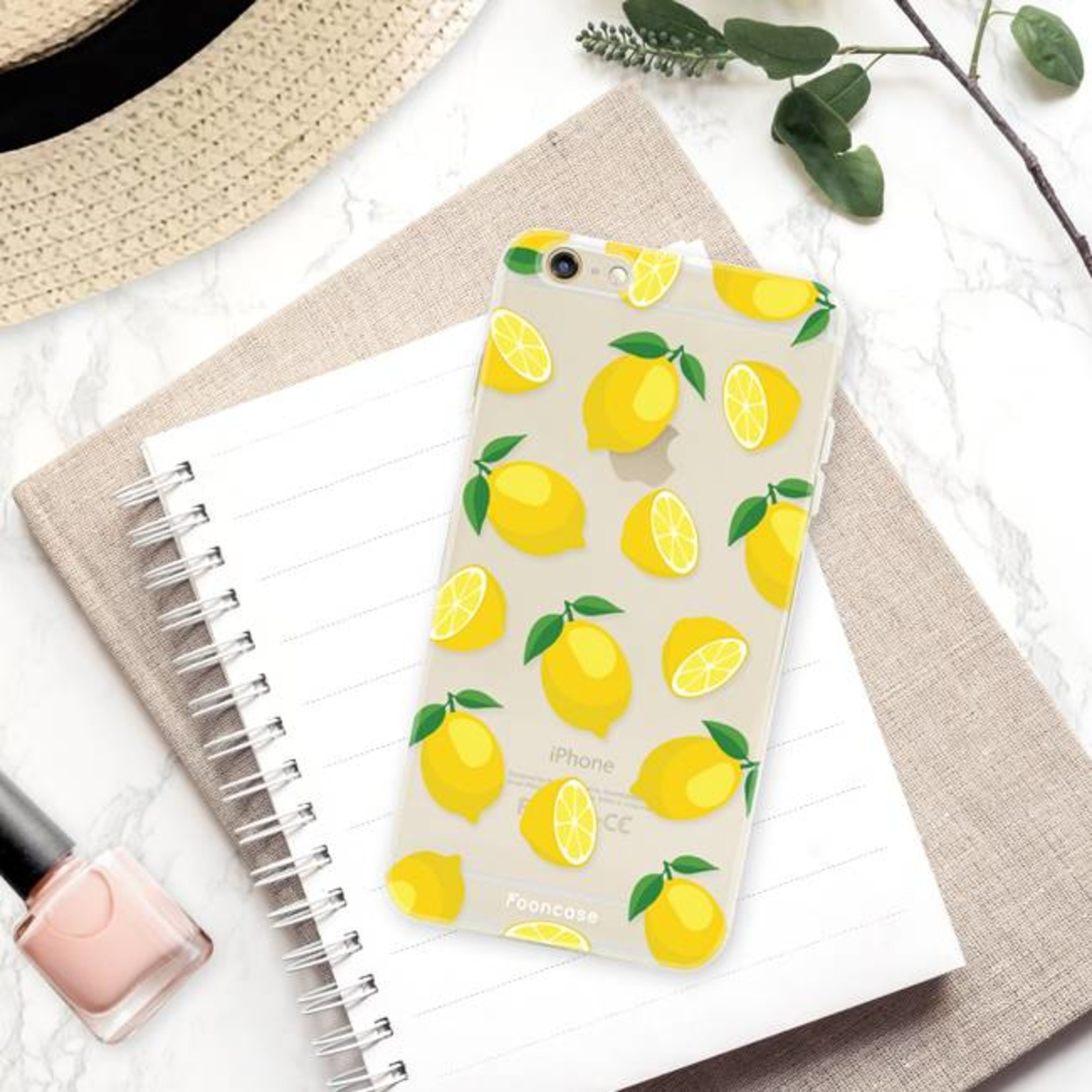 FOONCASE iPhone 6 Plus hoesje TPU Soft Case - Back Cover - Lemons / Citroen / Citroentjes