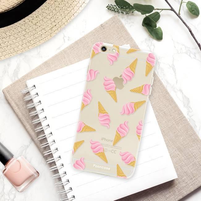 FOONCASE iPhone 6 Plus hoesje TPU Soft Case - Back Cover - Ice Ice Baby / Ijsjes / Roze ijsjes