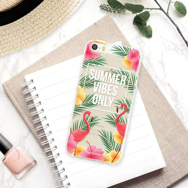 FOONCASE iPhone SE hoesje TPU Soft Case - Back Cover - Summer Vibes Only
