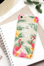 FOONCASE iPhone 8 hoesje TPU Soft Case - Back Cover - Summer Vibes Only