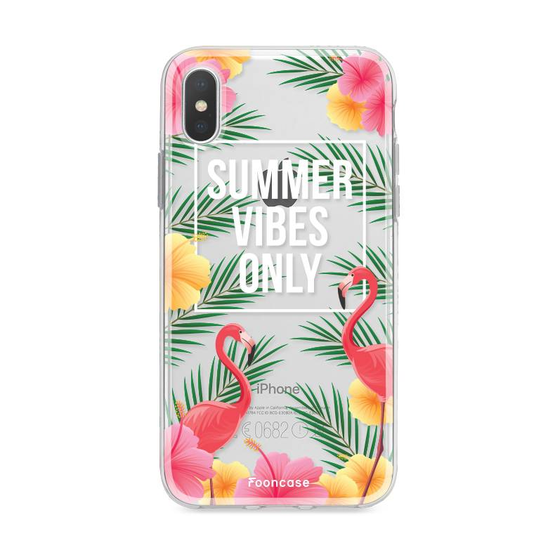 FOONCASE iPhone X hoesje TPU Soft Case - Back Cover - Summer Vibes Only