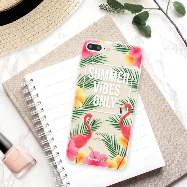 FOONCASE iPhone 7 Plus hoesje TPU Soft Case - Back Cover - Summer Vibes Only