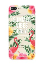 FOONCASE iPhone 8 Plus hoesje TPU Soft Case - Back Cover - Summer Vibes Only