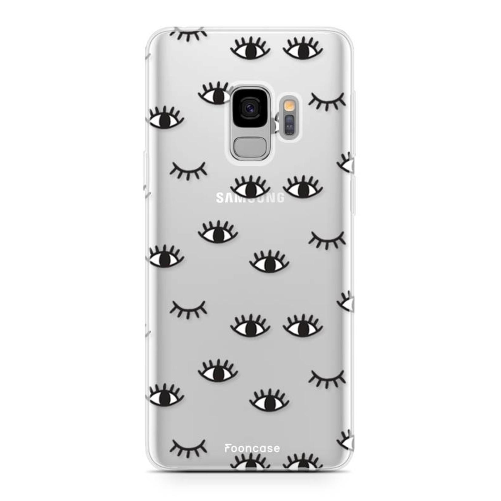 FOONCASE Samsung Galaxy S9 hoesje TPU Soft Case - Back Cover - Eyes / Ogen