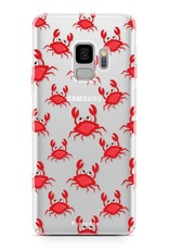 FOONCASE Samsung Galaxy S9 hoesje TPU Soft Case - Back Cover - Crabs / Krabbetjes / Krabben