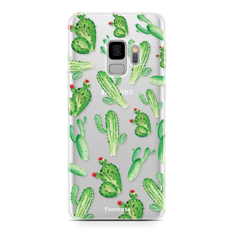 FOONCASE Samsung Galaxy S9 hoesje TPU Soft Case - Back Cover - Cactus