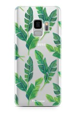 FOONCASE Samsung Galaxy S9 hoesje TPU Soft Case - Back Cover - Banana leaves / Bananen bladeren