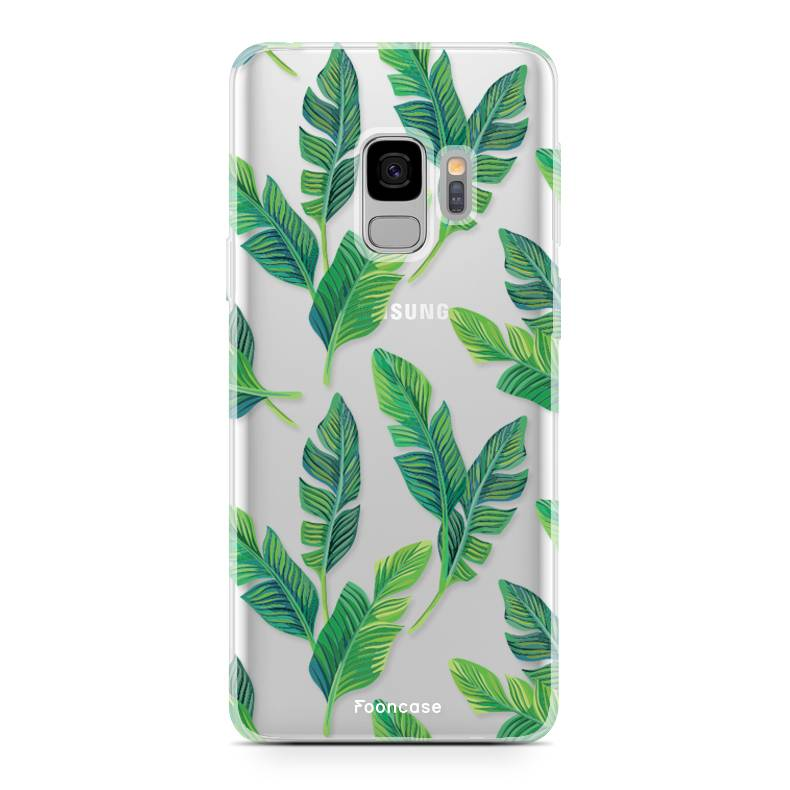 FOONCASE Samsung Galaxy S9 hoesje TPU Soft Case - Back Cover - Banana leaves / Bananen bladeren