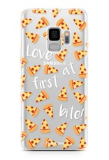 FOONCASE Samsung Galaxy S9 hoesje TPU Soft Case - Back Cover - Pizza / Food