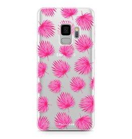 FOONCASE Samsung Galaxy S9 - Pink leaves