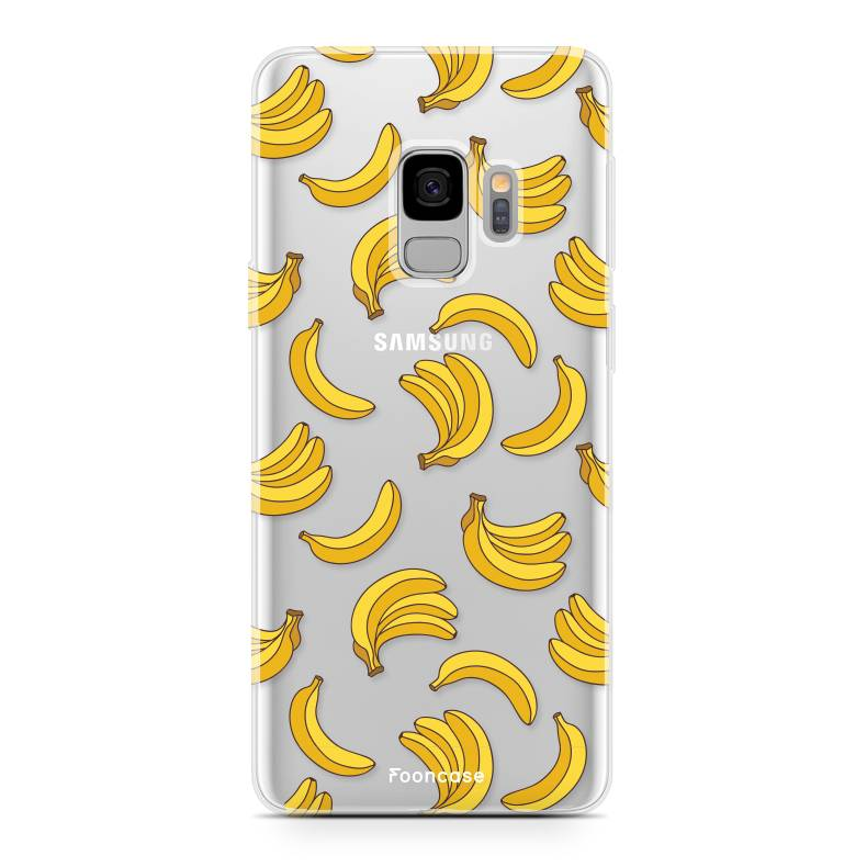 FOONCASE Samsung Galaxy S9 hoesje TPU Soft Case - Back Cover - Bananas / Banaan / Bananen