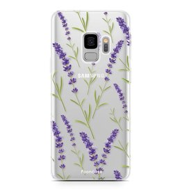 FOONCASE Samsung Galaxy S9 - Purple Flower