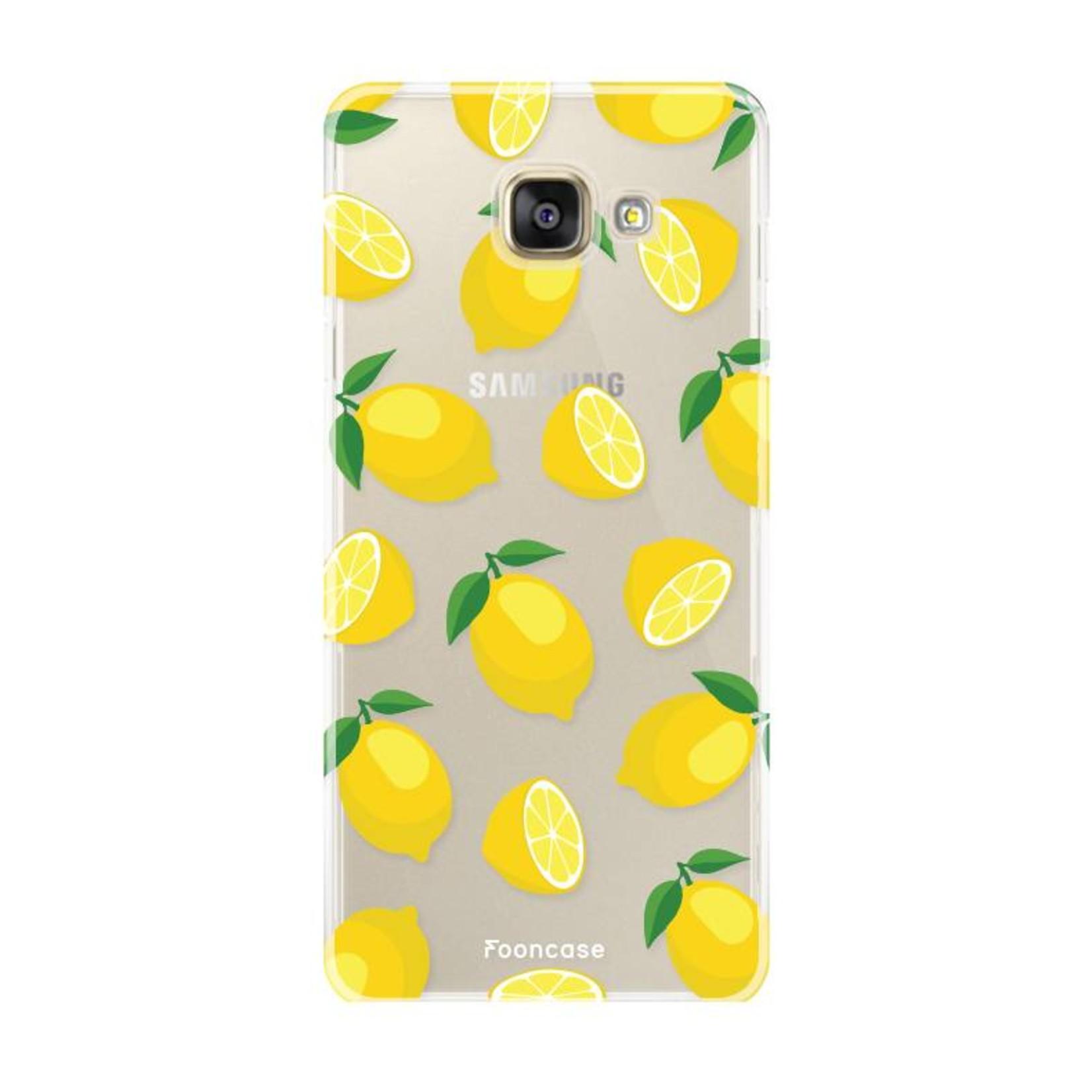 FOONCASE Samsung Galaxy A3 2016 hoesje TPU Soft Case - Back Cover - Lemons / Citroen / Citroentjes
