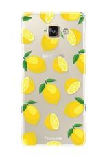 FOONCASE Samsung Galaxy A5 2016 hoesje TPU Soft Case - Back Cover - Lemons / Citroen / Citroentjes
