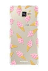 FOONCASE Samsung Galaxy A5 2016 hoesje TPU Soft Case - Back Cover - Ice Ice Baby / Ijsjes / Roze ijsjes