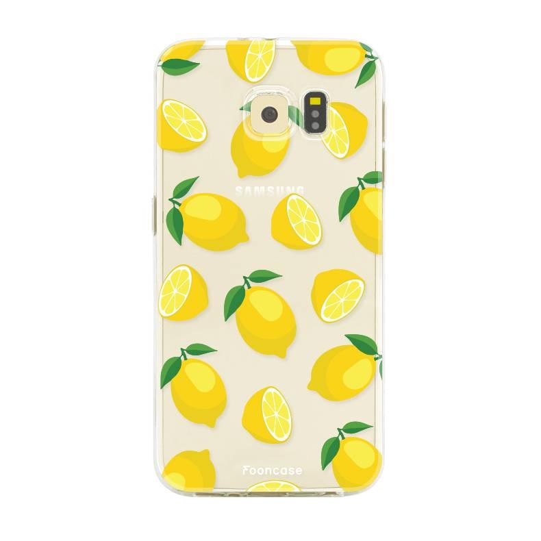 FOONCASE Samsung Galaxy S6 Edge hoesje TPU Soft Case - Back Cover - Lemons / Citroen / Citroentjes