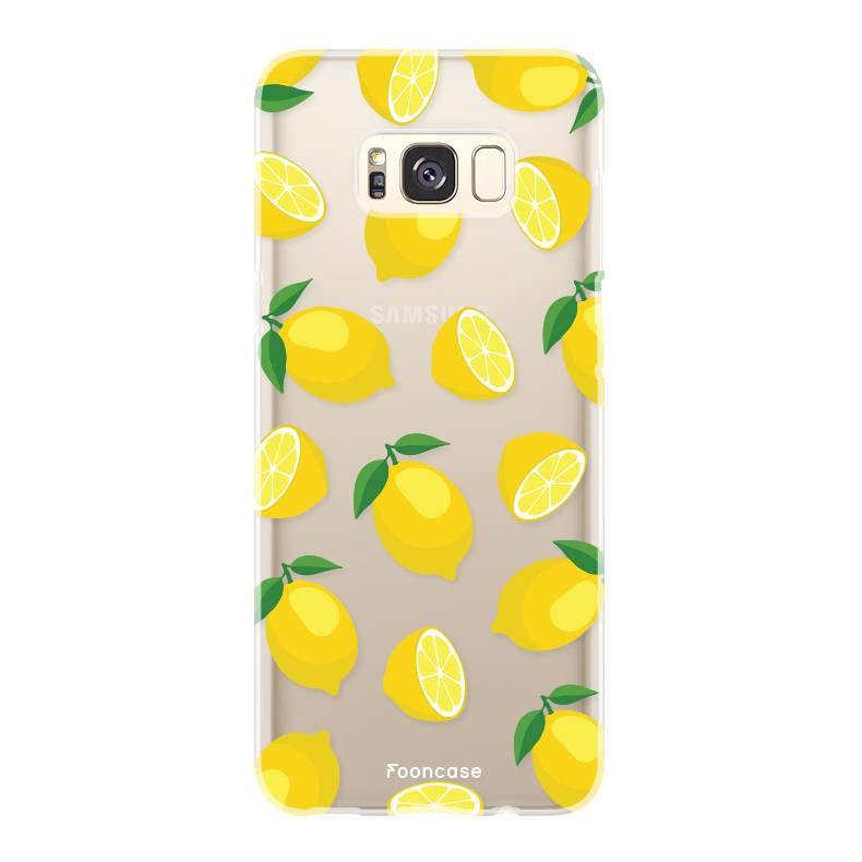 FOONCASE Samsung Galaxy S8 Plus hoesje TPU Soft Case - Back Cover - Lemons / Citroen / Citroentjes