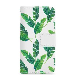 FOONCASE Iphone 6 / 6S - Banana leaves - Booktype